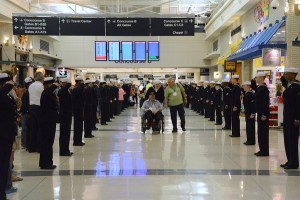 """Honor Flight - Midway Airport - April 8, 2015"""